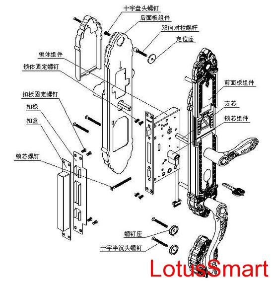 智能门锁机械图